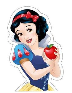 Snow White™ Cake Picture: This Snow White™ cake picture is an official product from Disney Princesses™. The edible picture measures x and shows Snow White holding a red apple. Disney Princess Snow White, Snow White Disney, Disney Princess Pictures, Deviantart Disney, Image Princesse Disney, Snow White Cake, Disney Princess Birthday Party, Cinderella Birthday, Snow Images