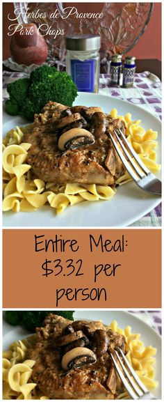 Herbes de Provence Pork Chops ~ super family meal or for dinner guests!