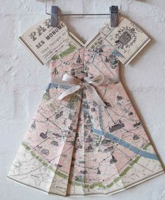 Ruby Murrays Musings: Ways with Vintage Maps - Paper Inspiration