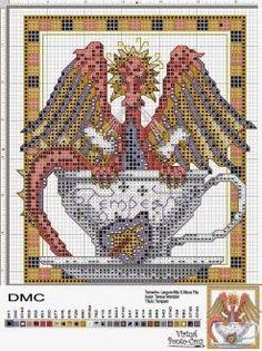 Dragon cross stitch charts free 21
