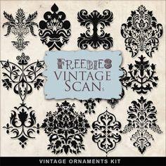 Far Far Hill: Freebies Vintage Ornaments Kit