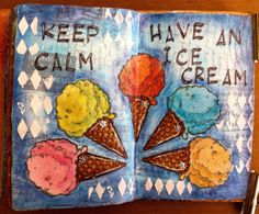 Art Journal page with Faber Castell products