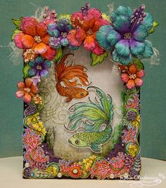 bottom) and glue in place. Stamp, die cut and sponge color onto the Classic Leaf, Birds, and Flowers then form all on a foam pad with flower forming tools. Glue flowers together and add Prills in the centers and glitter to the Paper Birds, Paper Flowers, Heartfelt Creations Cards, Stampin Up, Pot A Crayon, Wink Of Stella, Felt Hearts, Paper Decorations, Flower Cards