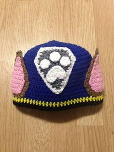 Paw Patrol Chase Crochet Hat by JessicaSayreCrochet on Etsy