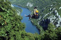 Zipline Croatia - Omis, Kroatien