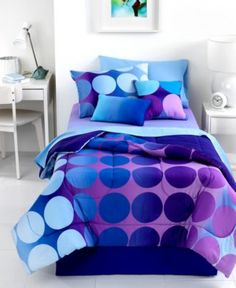 Dot Allure 4 Piece Full Comforter Set - Bed in a Bag - Bed & Bath - Macy's