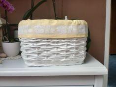 ♥ pletení z papíru ♥ Laundry Basket, Wicker, Organization, Home Decor, Getting Organized, Organisation, Decoration Home, Room Decor, Interior Design