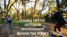 Family of FIVE Outdoor Photosession, Golden Hour Photoshoot family portr...