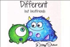 Different but best friends ❤️