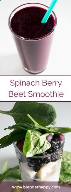 Beets are a great addition to your smoothie. Give this easy and tasty spinach berry beet smoothie a try. via /blenderhappy/