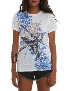 1cd553a21a6e2 Sword Art Online Asuna   Kirito Sublimation Girls T-Shirt