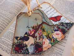 Victorian inspired collage gift tags.
