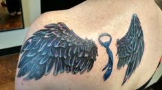 Supernatural Castiel Wings Tattoo