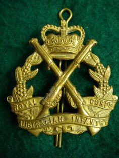 Royal Australian Infantry Corps. Cap Badge