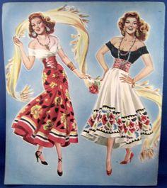 1948 ORIGINAL PAPER DOLLS RITA HAYWORTH AS CARMEN in The Loves of Carmen