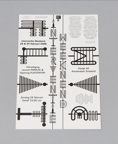 Niessen & de Vries a Dutch graphic design duo of Richard Niessen & Esther de Vries.     They have an amazing collection of inspirational typographic works, some of my favourite examples are below, but there are many more on the Niessen & de Vries website.