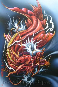 Những ý nghĩa đằng sau bí ẩn một con cá chép nên tìm hiểu trước khi xăm Dragon Koi Tattoo Design, Koi Dragon Tattoo, Dragon Fish, Dragon Art, Cool Chest Tattoos, Body Art Tattoos, Koi Fish Tattoo Forearm, Old School Ink, Coy Fish