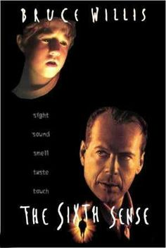 """The Sixth Sense"" 1999 Directed & Written by: M Night Shyamalan Starred: Haley Joel Osment, Bruce Willis, Toni Collette, Donnie Wahlberg. Scary Movies, Old Movies, Horror Movies, 1990s Movies, The Sixth Sense Movie, Cinema Posters, Movie Posters, Image Film, Bon Film"