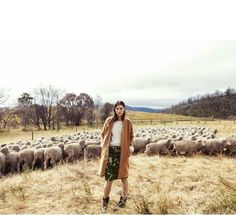 """Country Strong"" Gertrud Hegelund by Stefania Paparelli for ELLE Australia April 2014"