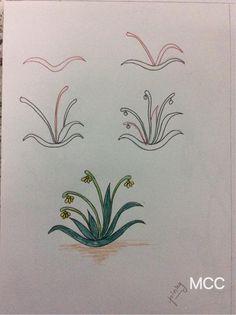 Adım Adım Kolay Çiçek Çizme 14 - Mimuu.com