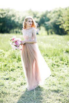 Этюд в розовых тонах   Свадебная невеста 2017