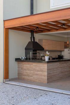 Outdoor Kitchen Patio, Outdoor Patio Designs, Outdoor Kitchen Design, Modern Kitchen Design, Lobby Design, House Outer Design, Terrace Design, House Plans, Home