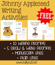 {free} Johnny Appleseed Writing Activities - In All You Do