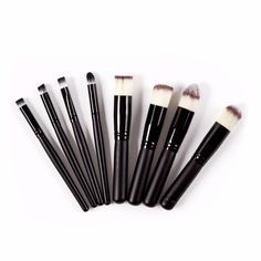 Deluxe Cosmetic Brushes in Black (8pc-set), 47% discount @ PatPat Mom Baby Shopping App