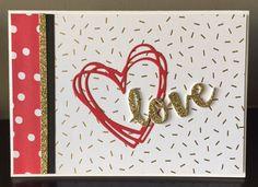 SU, Large polka dot, Sunshine Wishes Thinlits, SU valentinesday, Love Notes Framelits
