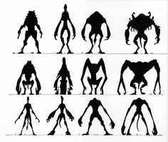 The Evolution Of The Cloverfield Monster Monster Sketch, Monster Drawing, Monster Art, Monster Concept Art, Fantasy Monster, Character Concept, Character Art, Shadow Monster, Arte Alien