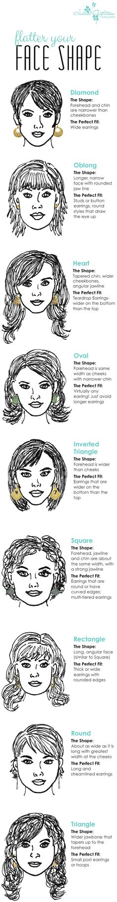 How to choose perfect earrings for your face