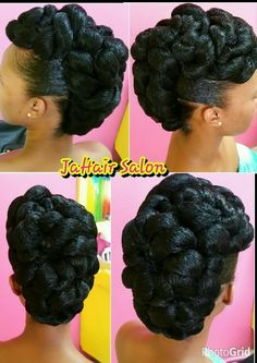 Wedding updo African Hair in 2019 Natural hair styles, African african american natural hair updo styles - Natural Hair Styles Easy Updo Hairstyles, Cute Girls Hairstyles, My Hairstyle, African Hairstyles, Wedding Hairstyles, Wedding Updo, Prom Updo, Hairstyle Tutorials, Popular Hairstyles