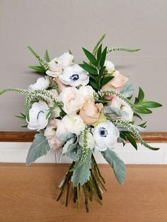 Image result for garden flower bridal bouquet pink, green, blue, gold