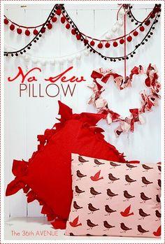 DIY No Sew Pillow Tutorial
