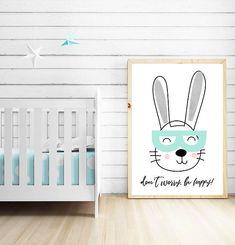 Bunny Nursery Art Prints Kids Wall Art Printable Poster