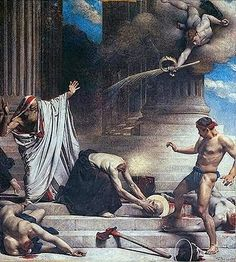 São Dionísio de Paris, depois de ter sua cabeça decepada, caminhou ainda seis quilômetros com ela nas mãos, pregando o Evangelho       ...