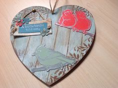 MDF heart using IndigoBlu paints and wood effect technique