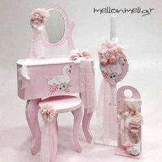 Set βάπτισης «BOUDOIR FLOWER SWAN» Shabby Chic Pink, Princess Birthday, Little Star, Girl Nursery, Swan, Boudoir, Party, Flowers, Diy