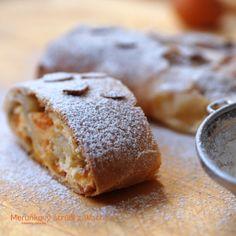 Laskominy od Maryny: Meruňkový štrúdl z Wachau Strudel, Banana Bread, Sweet Tooth, Good Food, Pudding, Sweets, Dishes, Cooking, Cake