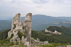 Pietrele Doamnei rocks in Rarau Mountains