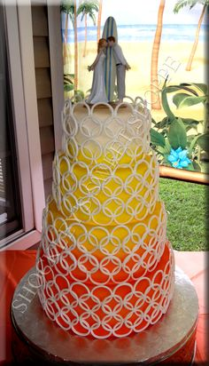 Shockley's Sweet Shoppe Sunrise Wedding Cake