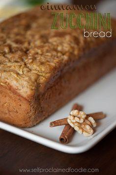 Cinnamon Zucchini Bread   Self Proclaimed Foodie - its everyone's favorite