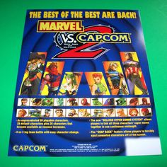 MARVEL VS CAPCOM 2 By Capcom 2000 Original NOS VIDEO ARCADE Game PROMO FLYER #MarvelVsCapcom #ArcadeGameFlyer #VideoGame