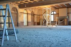 Sandy beach right in the heart of the Gstaad Palace. Our biggest ballroom, Salle Baccarat, is getting a new look. In The Heart, Backstage, Palace, Behind The Scenes, Beach, The Beach, Beaches, Palazzo, Palaces