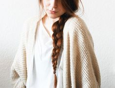 Loose braid, white and ivory