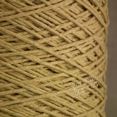 Soft Italian double knitting DK cotton yarn on cone -  biscuit