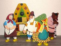 Старик, старуха, лиса, медведь. Игрушки СССР - http://samoe-vazhnoe.blogspot.ru/
