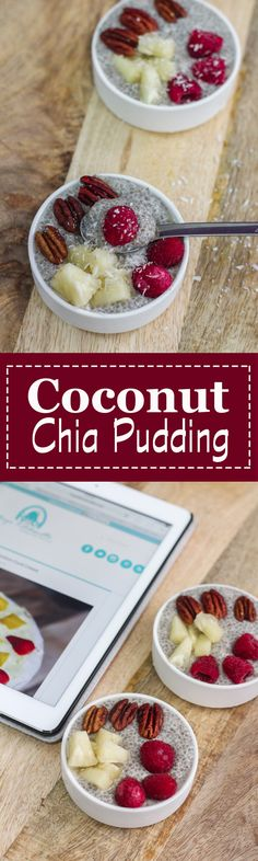 This Coconut Chia Pudding is delicious and it feels like I was having a dessert for breakfast!