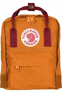Fjallraven Kanken Mini Backpack Burnt Orange/Deep red #kanken #backpack #fashion