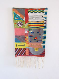 Small tapestry by Hannah Waldron. Repinned by Elizabeth VanBuskirk. Weavers, art teachers, she is an inspiring artist, designer and weaver. You might like to see her tumblr  site where she discusses design and her process. Also http://hannahwaldron.blogspot.com/ i also recommend her pinterest pages.